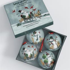 Snowman Sidekick Ornament Set 4